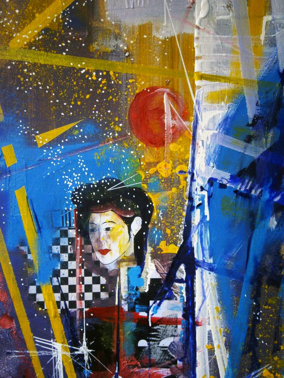 Elisir d'amore (la dolce fanciulla)- tecnica mista su tela cm 60 x 70 anno 2015